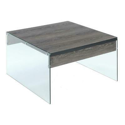 soho square coffee table in gray wood