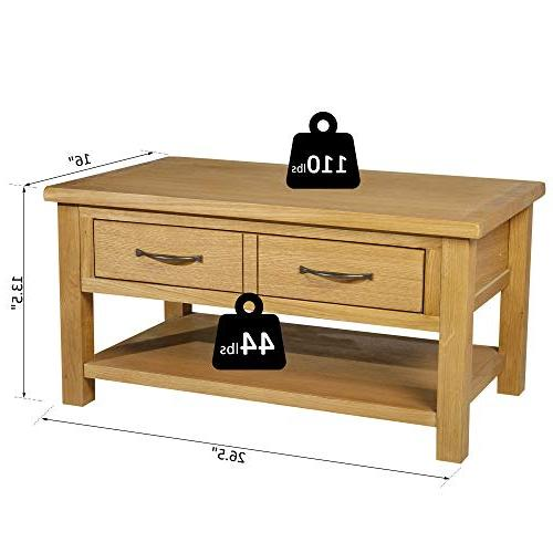 HOMCOM Solid Rectangle Table with Drawer