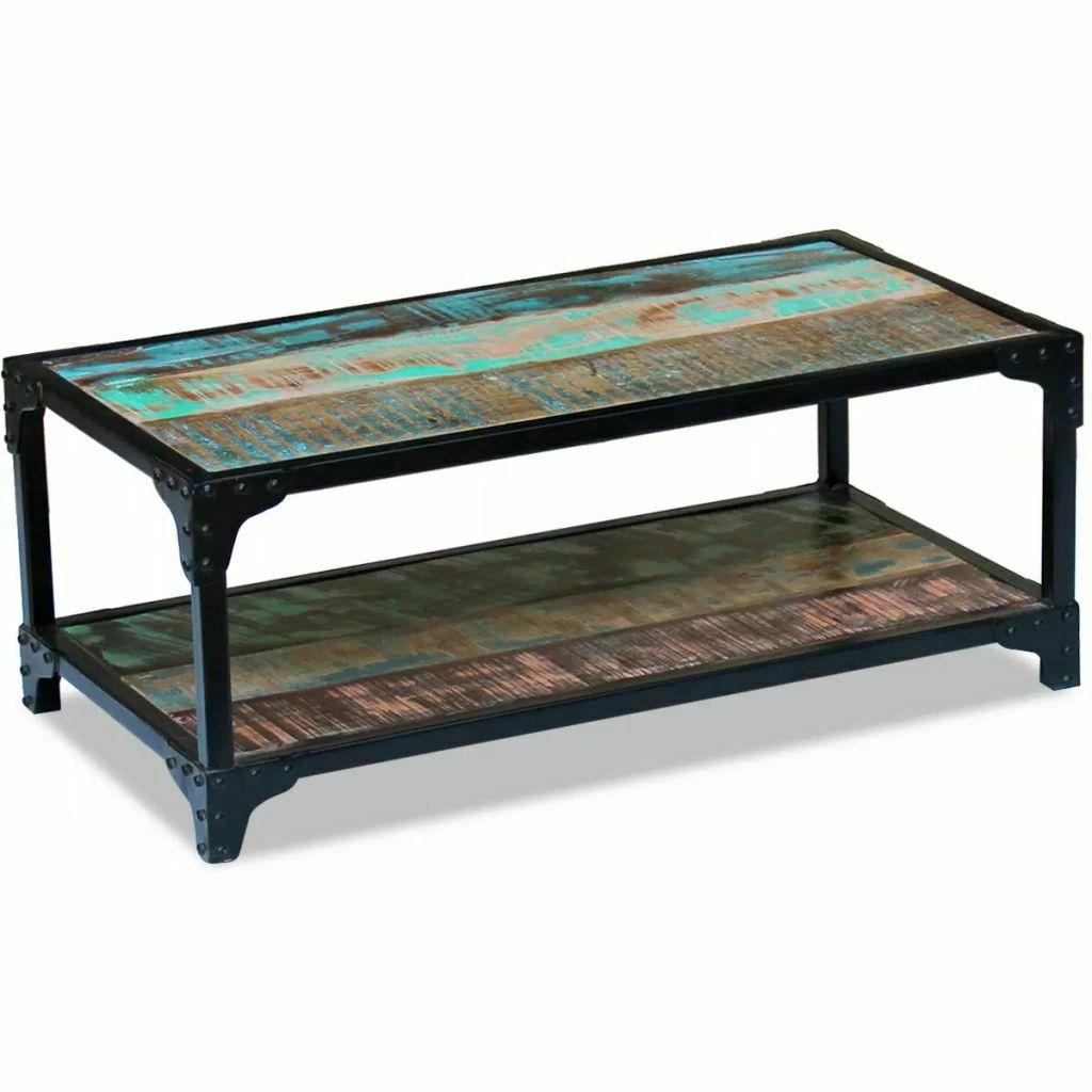 solid reclaimed wood coffee couch side tea