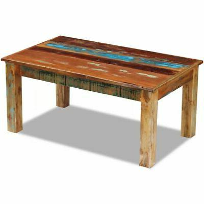 vidaXL Solid Reclaimed Wood Coffee Side Couch Accent Table H