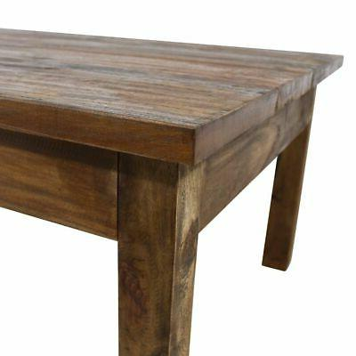 "vidaXL Solid Reclaimed Coffee 38.6"" End Side Living"
