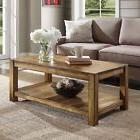 Solid Wood Coffee Table Rustic Indoor Cocktail Splits Natura