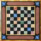 Square Marble Chess Coffee Table Top Cubes Mosaic Inlaid Liv