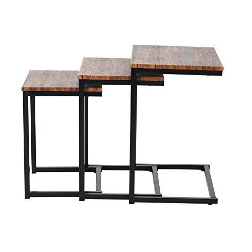 Lillyarn 3pc Nesting Coffee 3 Tables Snack Table