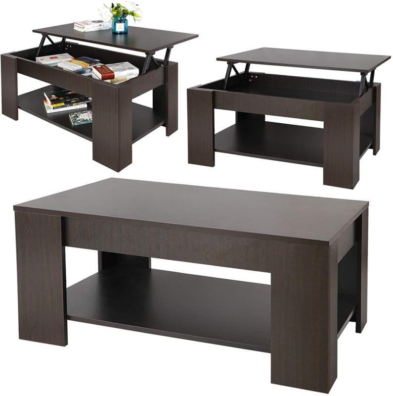 Table Desk Lift Top Storage Coffee Table with Hidden Storage