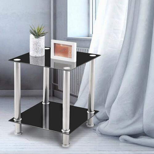 tempered glass coffee table living room corner