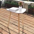 White Modern Triangle Coffee Tea Table Simple Style End Tabl