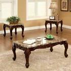 Furniture of America Tollero Traditional Style 3 Piece Faux