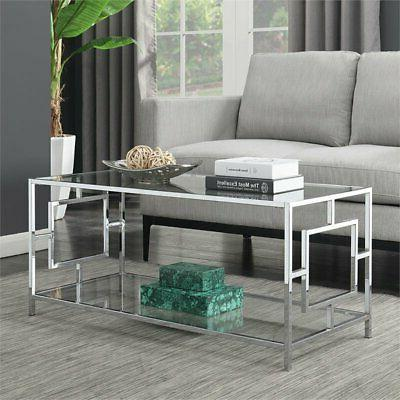 Convenience Town Square Glass Coffee Table in