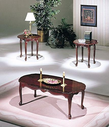 traditional cherry finish coffee table