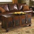 Trunk Style Coffee Table Living Room Tables Wood 48 Carved S