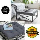 tufted ottoman coffee table square fabric gray