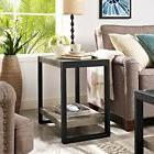 Walker Edison 24inch Urban Blend Side Table - Driftwood/Blac
