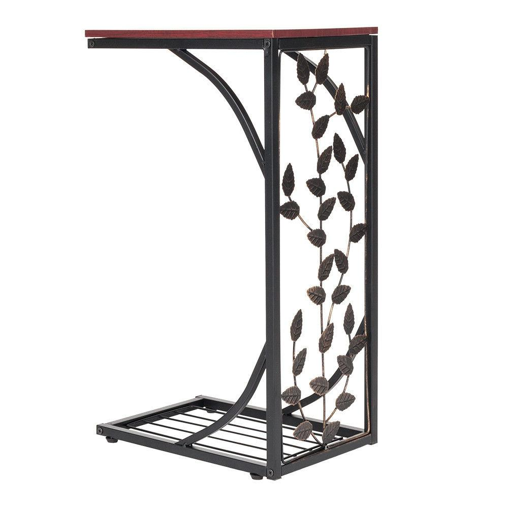 "US 20"" Iron Bed End Coffee Home Brown Leaf"