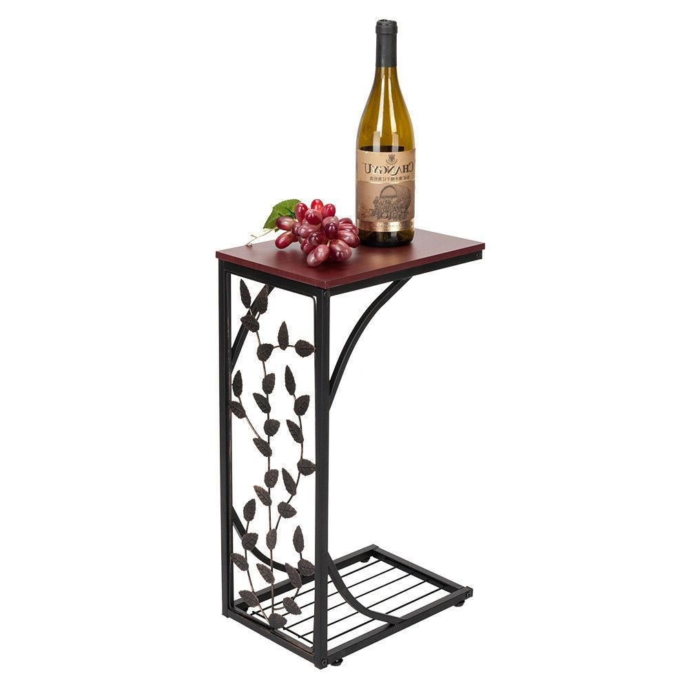 US Iron Side Bed Table Home Brown
