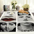 Vintage Fornasetti Cotton Linen Placemat Dining Coffee Table