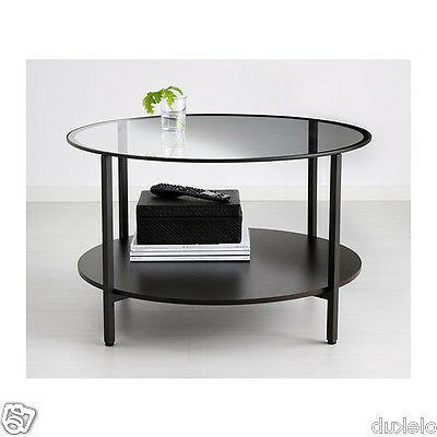 IKEA VITTSJÖ Coffee table Metal Frame Modern Black Brown VI