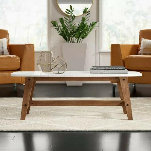 walker rectangle coffee table 49 with wood