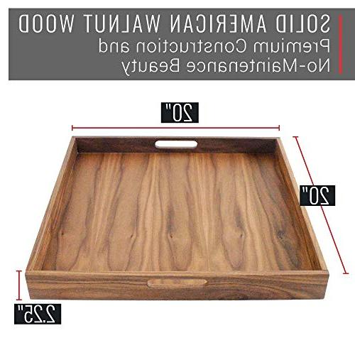 Virginia Boys Kitchens Walnut Wood with Handles - Serve Tea, in or for Ottomans Desk - 20x20