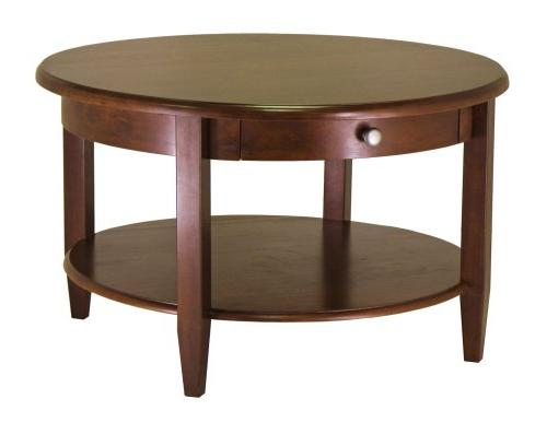 wood concord round coffee table