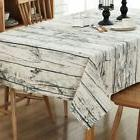 Wooden Iinen Tablecloth Dusty Coffee Table Cloth Black And W