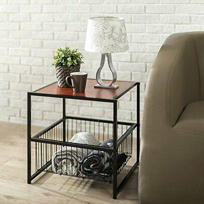 Modern Studio Collection Deluxe Side End Table Coffee Night