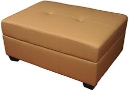 Epic Furnishings Leather Look Upholstered Tufted Padded Hing