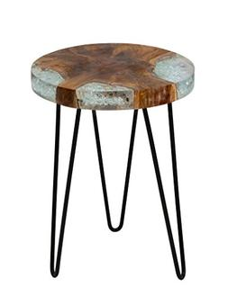 East at Main Beloit Icy Brown Teakwood Square Accent Table,