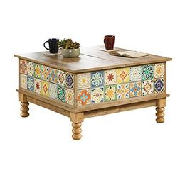 Lift Top Coffee Table Double Split - Vintage Country Tiles T