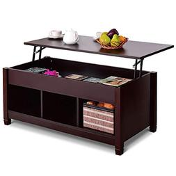 Tangkula Coffee Table Lift Top Wood Home Living Room Modern