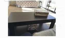 Lift Top Coffee End Table with Storage Space Shelves Living
