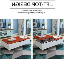 Lift Top Coffee Table w/ Hidden Compartment and Storage Draw
