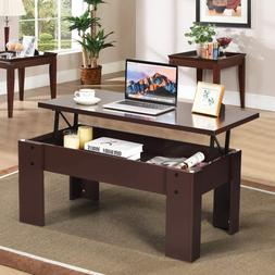 Tangkula Lift Top Coffee Table, w/Hidden Storage Compartment