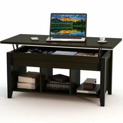 Lift-Top Coffee Table With Storage & Open Shelf Modern Livin