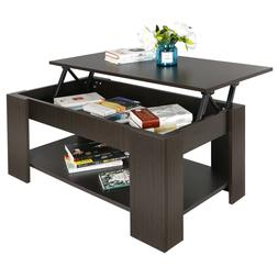 Lift Coffee Table Hidden Storage Cabinet Compartment Durable