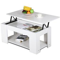 Yaheetech Lift Up Top Coffee Table with Storage & Shelf Mode