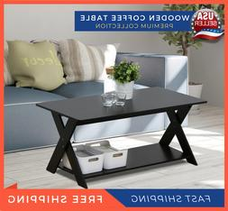Living Room Furniture Modern Wooden Criss Cross Coffee Table
