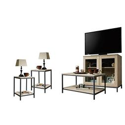 Home Square 4 Piece Living Room Set with Storage TV Stand, C