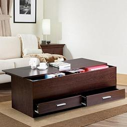 Yaheetech Living Room Slide Top Trunk Coffee Table with Stor