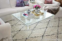 """Lucite Coffee Table Frame  in 3/4"""" thick clear-Custom Sizing"""