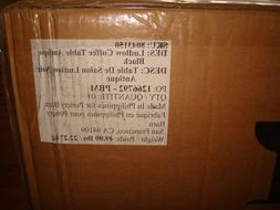 POTTERY BARN LUDLOW VINTAGE TRUNK COFFEE TABLE new in box