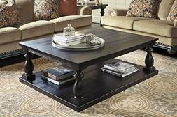 Mallacar Black Color Casual Rectangular Cocktail Table