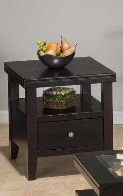 Jofran End Table with Drawer and Shelf
