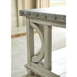 Beaumont Lane Metal Top Coffee Table in Oyster