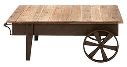 metal wood coffee table accent