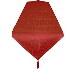 EcoSol Designs Microfiber Damask Swirls Table Runner