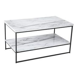 Tilly Lin 2 Tier Faux Marble Coffee Table, Water Resistant A