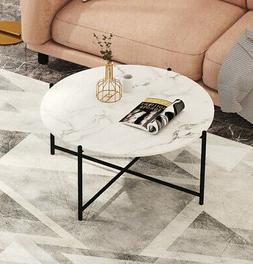 Modern Nesting coffee table,Black color frame with marble to