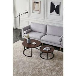 Modern Coffee Table,Round Table,Set Of Table Black color fra