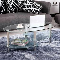 modern glass oval coffee table contemporary modern
